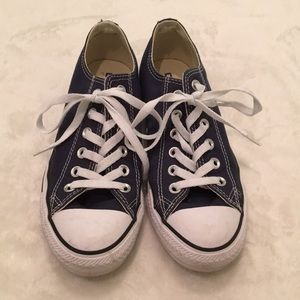 Navy Blue Classic Converse